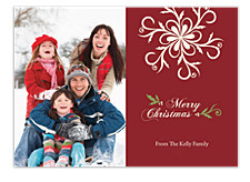 Holly Sprigs Photo Holiday Cards