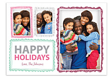 Holiday Frames Photo Christmas Cards