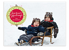 Holiday Circle Christmas Photo Cards