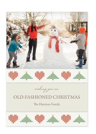 Old Fashioned Christmas Photo Cards