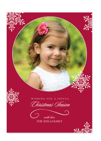 Christmas Snowflakes Photo Cards