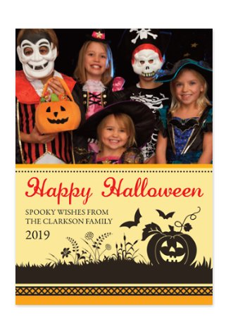 Pumpkin Patch Halloween Photo Cards