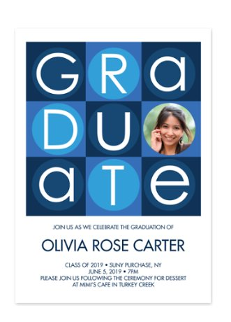 Building Blocks Graduation Party Photo Invitations