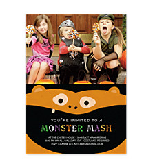 Goblin Halloween Photo Invitation Cards