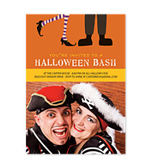 Costume Party Halloween Photo Invitation Cards