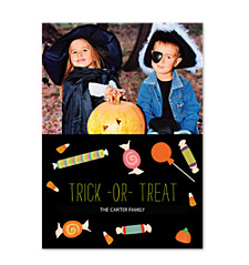 Halloween Candy Photo Cards