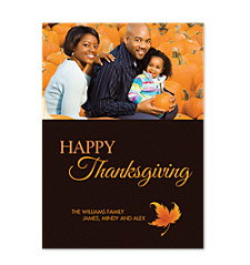 Autumn Happy Thanksgiving Photo Cards