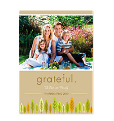 Grateful Happy Thanksgiving Photo Cards