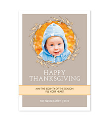 Harvest Happy Thanksgiving Photo Cards