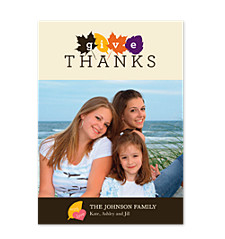 Colorful Thanksgiving Happy Thanksgiving Photo Cards