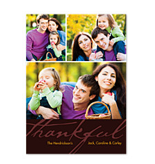 Be Thankful Happy Thanksgiving Photo Cards