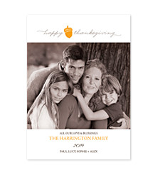 Simple Thanksgiving Thanksgiving Photo Cards