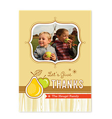 Fruitful Thanks Happy Thanksgiving Photo Cards
