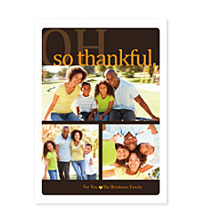 So Thankful Happy Thanksgiving Photo Cards