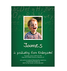 Alphabet City Graduation Party Invitations
