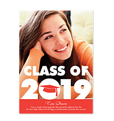 Nice Work Grad Vertical Photo Graduation Announcements
