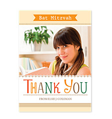 Elsie Bat Mitzvah Thank You Cards