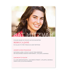 Modern Bat Mitzvah Bat Mitzvah Invitations