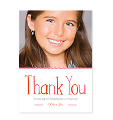 Very Grateful Bat Mitzvah Thank You Cards