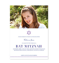 Bat Mitzvah Star Photo Bat Mitzvah Invitations