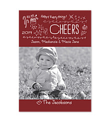 Cheers Photo Christmas Cards