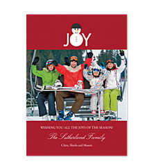 Joyful Snowman Christmas Photo Cards
