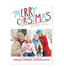 Big Merry Christmas Photo Christmas Cards