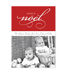 Joyeux Noel Photo Holiday Cards