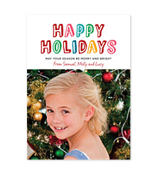 Bright Holiday Christmas Photo Cards