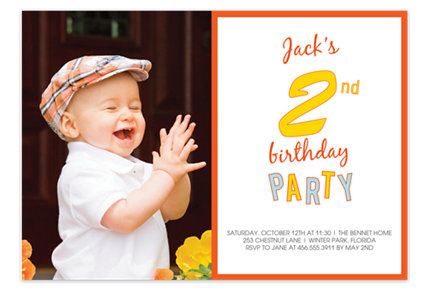 2nd Birthday Party Photo Kid Party Invitations