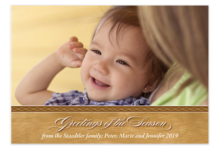 Brushed Gold Christmas Photo Cards