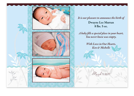Snips & Snails Birth Announcement Photo Cards
