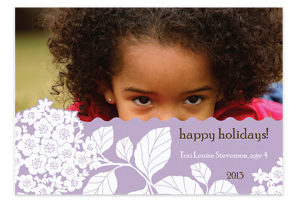 Sheer Lilac Christmas Photo Cards