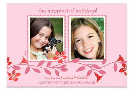 Blush Two Holiday Photo Cards