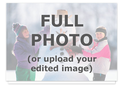 Full Bleed Folded Photo Christmas Cards