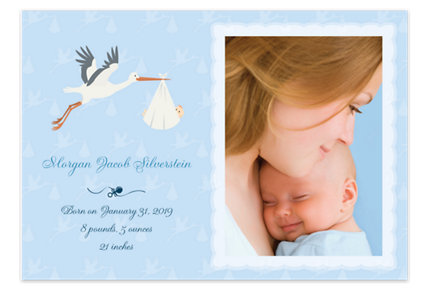 Special Delivery Baby Boy Birth Announcement Photo Cards