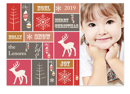 Christmas Squares Holiday Photo Cards