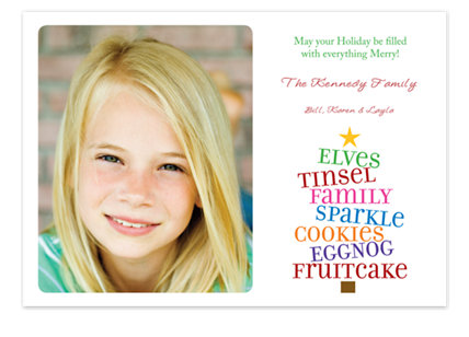Type Tree Holiday Photo Cards