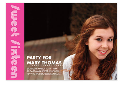 Sweet Sixteen Photo Kid Party Invitations