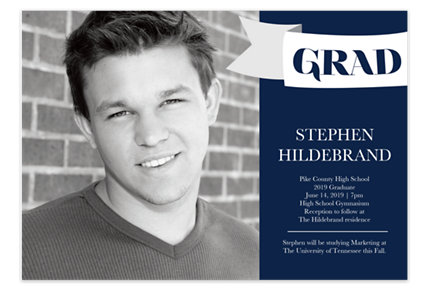 Bravo Graduation Invitation Photo Cards