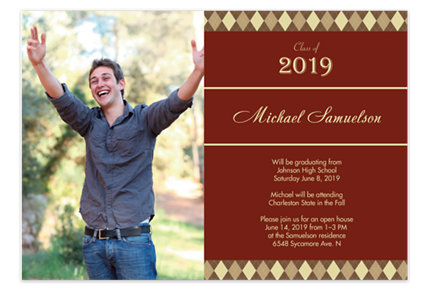 Over Achiever Graduation Party Invitation Cards