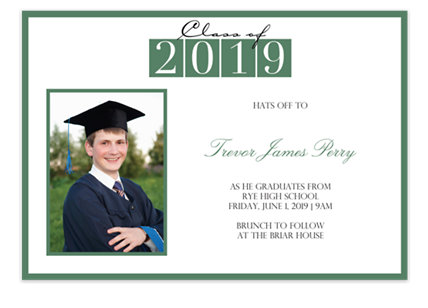 Great Success Graduation Invitation Photo Cards