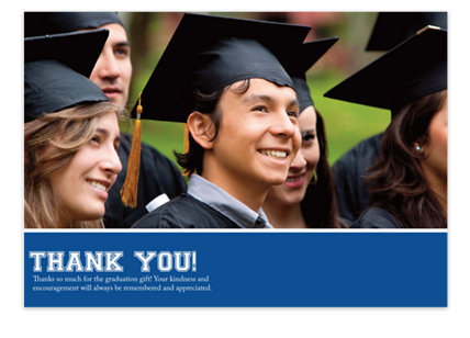 Treasure Harvard Blue Graduation Thank You Cards