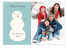 HOHOHO Snowman Photo Cards