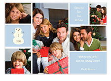Graphic Five Pic Christmas Photo Cards