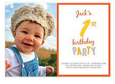 1st Birthday Party Kid Birthday Party Invitations