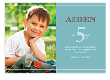 Celebration Time Photo Kid Party Invitations