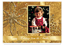 Jeweled Package Photo Holiday Cards