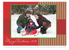 Striking Stripe Christmas Photo Cards