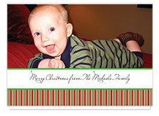 Holiday Stripe Photo Cards